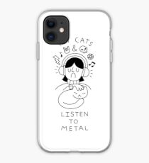 Pet Cats & Listen To Metal iPhone 11 case