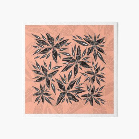 Trafello Flower - Orange Art Board Print