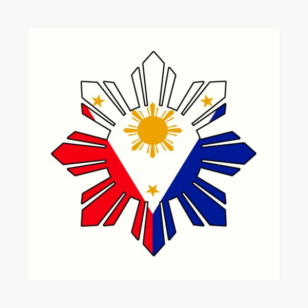 Philippinische Sun Flagge Kunstdruck