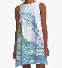 The Ocean's pulse A-Line Dress