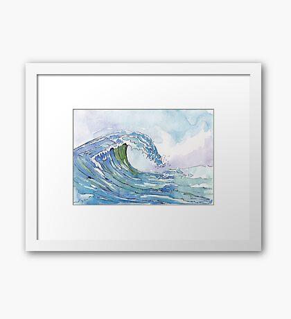 The Ocean's pulse Framed Print