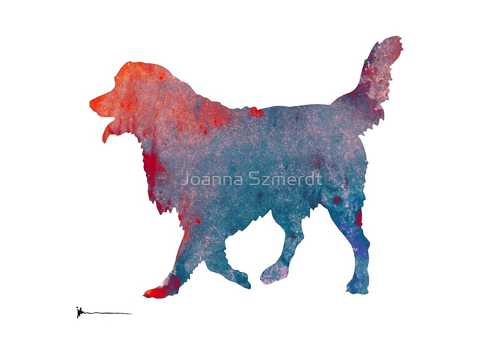 Golden retriever image art print silhouette by Joanna Szmerdt