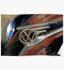 VW emblem - vintage L Poster