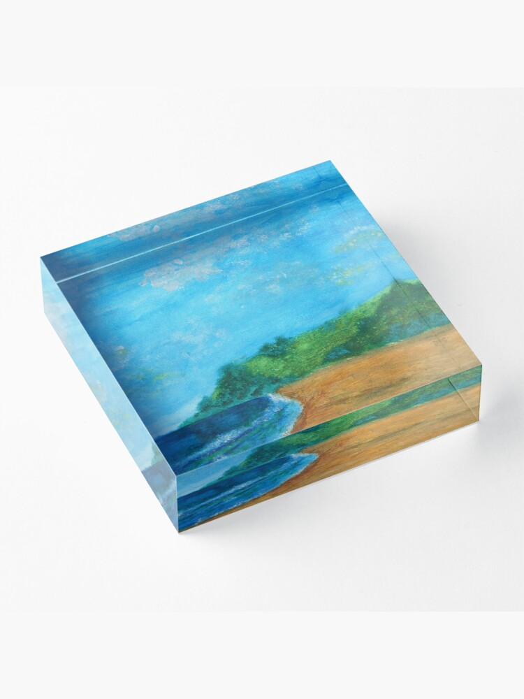 Alternate view of At the beach Acrylic Block