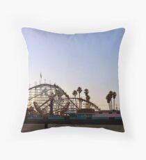 Big Dipper, Santa Cruz Beach Boardwalk, California Throw Pillow
