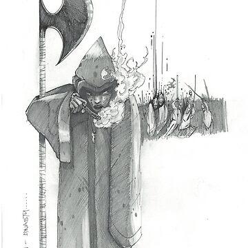 Limited Edition Tomahawk Dynasty Artwork by JosieBaldwin