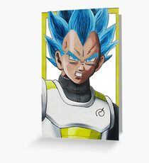 Vegeta God Super Saiyan Greeting Card