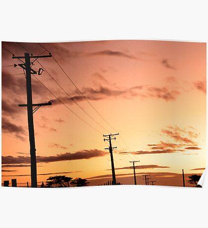 Sunset - Tomahawk  Poster