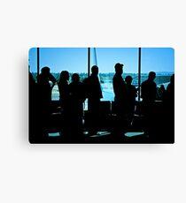 Airport Travelers Canvas Print