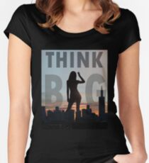 Think Big Giant Silhouette Women's Fitted Scoop T-Shirt