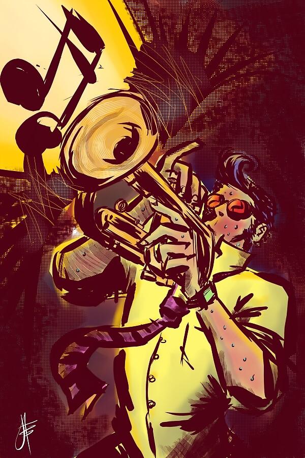 trumpet by mojokingbee