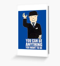 MR BENN KIDS CHILDRENS CULT TV 70'S 80'S RETRO CARTOON BBC SLOGAN FUNNY Greeting Card