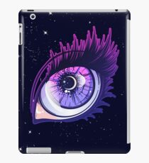 Crying eye in anime or manga style with teardrops and reflections. Highly detailed vector illustration. iPad Case/Skin