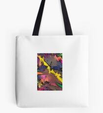 80s style graffiti art, hand painted in bright colours Tote Bag