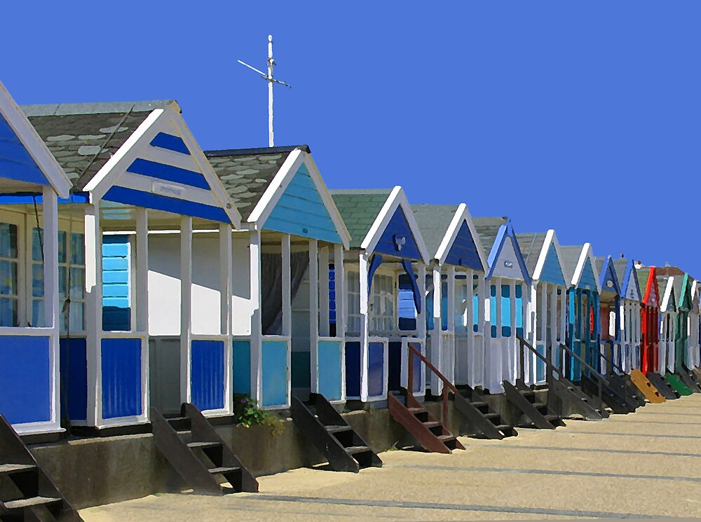 Beach Huts by BizziLizzy