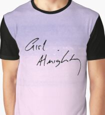 Girl Almighty purple watercolour Graphic T-Shirt