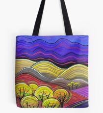 Pastels- Flinders Ranges with Trees Tote Bag