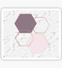 Geometric marble - luxe rose gold edition III Sticker