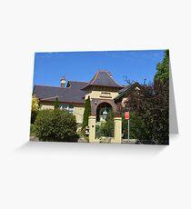 Elegant residence in Armidale NSW Greeting Card
