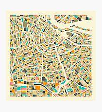AMSTERDAM MAP Photographic Print