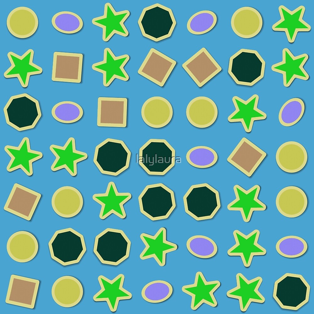 Shapes stickers by lalylaura