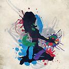 Grunge Illustration einer Musik DJ von AnnArtshock