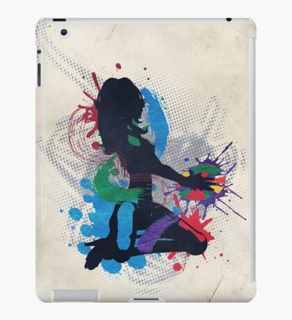 Grunge Illustration einer Musik DJ iPad-Hülle & Klebefolie