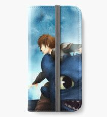 Wind, take us home - Hijack (Jack Frost/Hiccup) fanart iPhone Wallet/Case/Skin