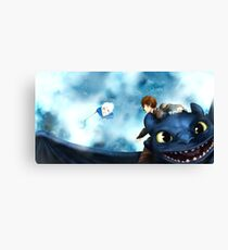 Wind, take us home - Hijack (Jack Frost/Hiccup) fanart Canvas Print