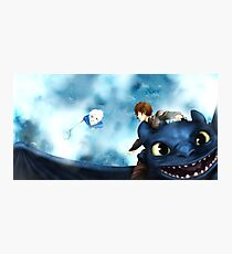 Wind, take us home - Hijack (Jack Frost/Hiccup) fanart Photographic Print