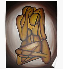 Abstract Lovers Poster