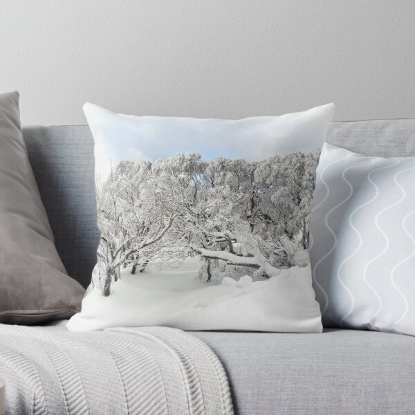 Thinking about the Snow (and how to get back there!) Throw Pillow