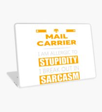 MAIL CARRIER - SARCASM TEES AND HOODIE Laptop Skin