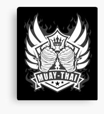 Muay Thai Wings of Winner-Thailand Martial Art Tshirt 2 color Canvas Print