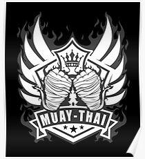 Muay Thai Wings of Winner-Thailand Martial Art Tshirt 2 color Poster