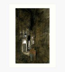 Carrer d'en Xuclà-El Raval Art Print