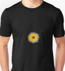 sunflower repeated black bground Unisex T-Shirt