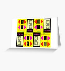 GRAPHIC #Video 01 80s Greeting Card