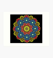 JW Colourful Decorative Mandala Stickers/prints Art Print