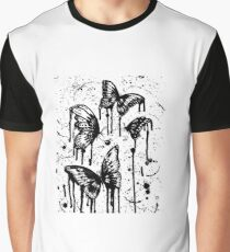 Black And White Butterflies Graphic T-Shirt