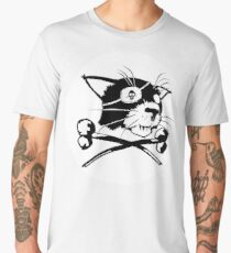 Pirate Cat Flag Men's Premium T-Shirt