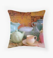 Collectibles Collage Throw Pillow