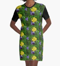 Complementary Colours Graphic T-Shirt Dress