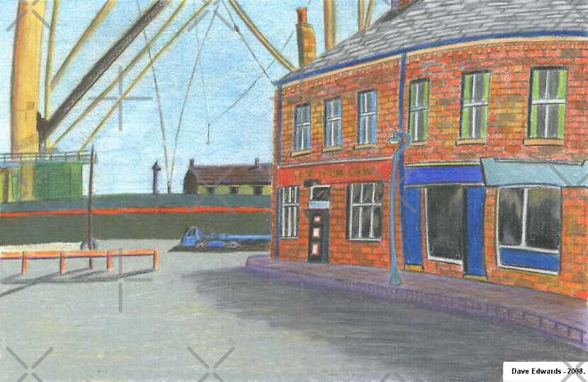 210 - DUN COW PUB, BLYTH - DAVE EDWARDS - COLOURED PENCILS - 2008 by BLYTHART