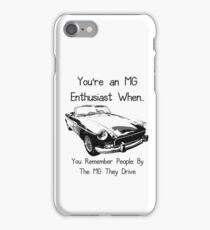 MG Enthusiast iPhone Case/Skin