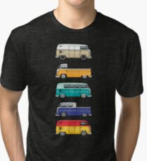 Color Buses Tri-blend T-Shirt