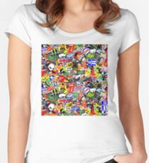 Sticker Women's Fitted Scoop T-Shirt
