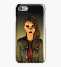 Mysterious girl iPhone Case/Skin