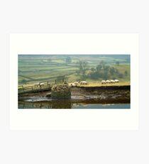 Reeth Swingbridge, Swaledale, 2001 Art Print
