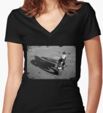 The Shadow Rider Women's Fitted V-Neck T-Shirt
